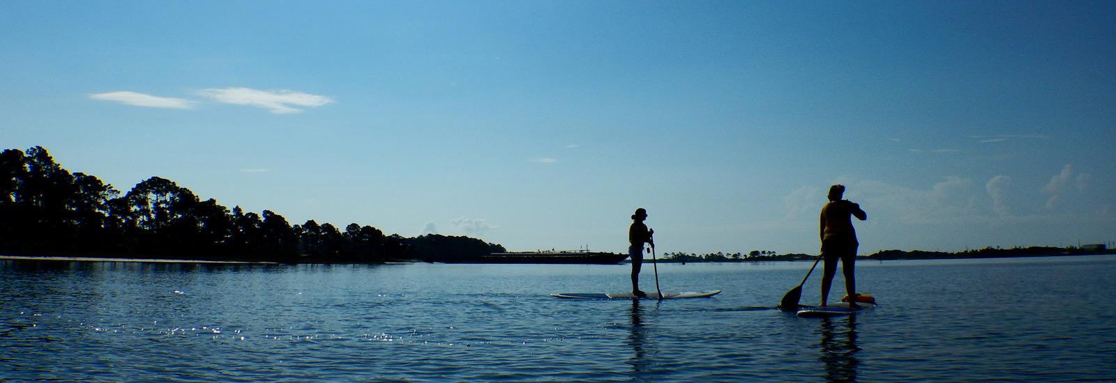Stand up paddleboarding activity from Raithwaite Estate