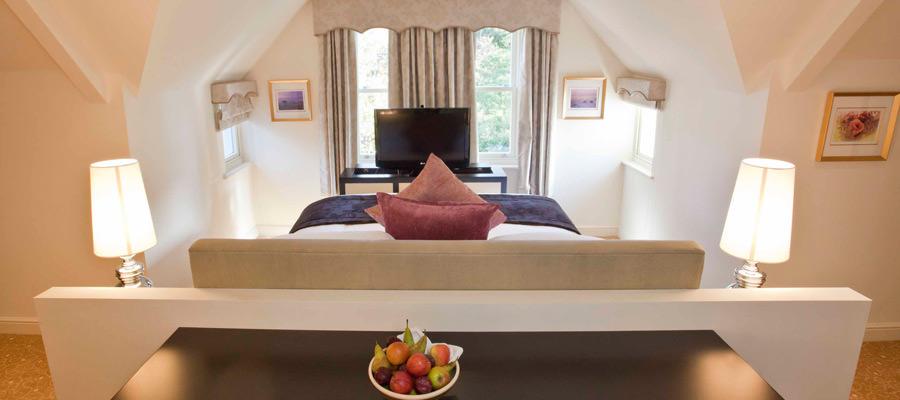 Junior suite in The Hall building at raithwaite estate