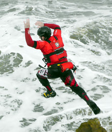 Coasteering water sport while staying at Raithwaite Estate hotel