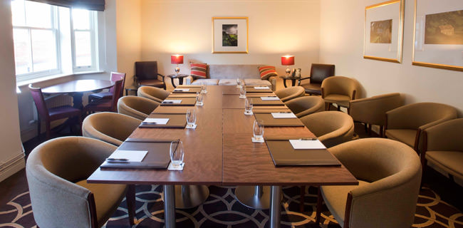 The Headlam Suite within Raithwaite Hall is a modern boardroom