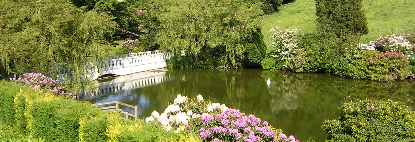Raithwaite Estate lake and gardens.