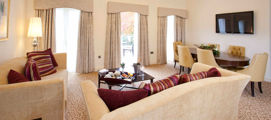 Suites Lounge and living area at The Hall Raithwaite Estate